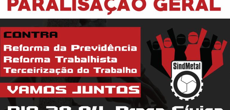 Paralisação Nacional: o Brasil vai parar no dia 28 para protestar contra o Governo
